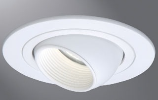 Eaton Lighting 1498W 4 Inch White Trim with Eyeball and Baffle