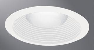 "Eaton Lighting ERT713WHTTS 6"" High Gloss Appliance White Trim with Baffle"