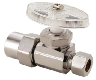 "PR14XC 1/2"" CPVC X 3/8OD COMP STRAIGHT CP STOP (A224CPVCPC) LEAD COMPLIANT"