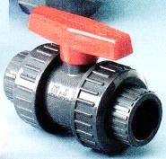 "V10101N 1"" PVC TRUE UNION BALL VALVE W/ EPDM SEAL"