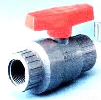 """V08191N 3/4"""" COLONIAL PVC COMPACT BALL VALVE W/ EPDM SEAL (GRAY PVC 150 PSI RATING)"""
