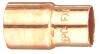 "1"" X 1/2"" Fitting Reducer Coupling - Copper Sweat"
