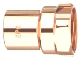 "3/4"" X 1/2"" Reducing Female (FIP) Adapter - Copper Sweat"