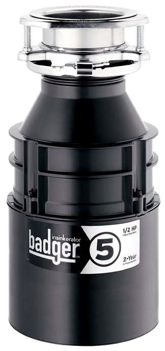 BADGER V ISE 1/2 HP DISPOSER 2-year in-home Warranty
