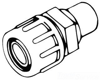 "GBS88 2"" POLY GRIP COMPRESSION SPIGOT FTG 733-20"