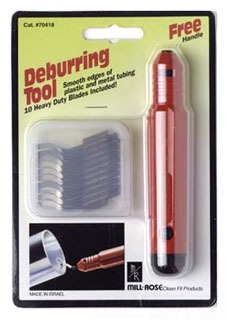 70415 MILLROSE DEBURRING TOOL WITH 3 EXTRA BLADES