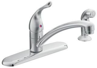 7430 MOEN CP 1 HDLE KITCHEN FAUCET W/ HOSE&SPRAY CHATEAU SERIES