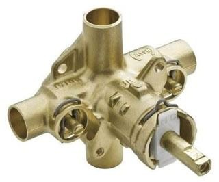 "2570 MOEN ROUGH-IN POSI-TEMP 1/2""CC PRESS BAL VALVE W/STOPS SINGLE PACK"
