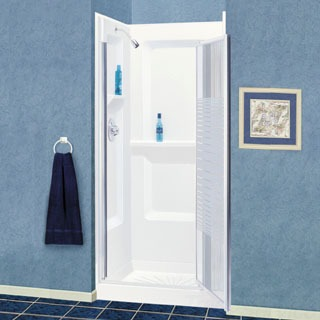 "736WHT MUSTEE WHITE 36""SHOWER WALL"