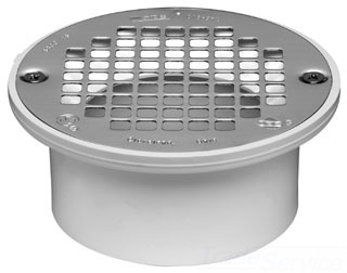 "43583 OATEY 3-4"" FLOOR DRAIN W/ SS STRAINER D54-100 PGP502"