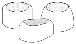 917-PR PASCO WHITE ROUND BOLT CAP, 1/4IN OR5/16IN