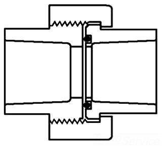 "4533V-40 S-80 4"" SOCKET WELD UNION W/VITON O-RINGS SPEARS (8057-040)"