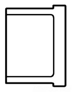 """4516-14 1-1/2"""" S80 PVC SOCKET PLUG SPEARS (849-015)"""