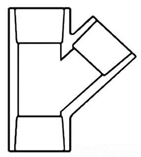 """4510-40 4"""" SCH 80 PVC SOCKET WYE (875-040) (SPEARS)"""