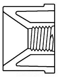 45183-0602 SCH 80 PVC 3/4 FTG X 1/4 FIP BUSHING (838-098) (SPEARS)