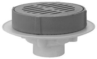 """FD-2350-PV3-Y 3"""" JONESPEC PVC GRATE DRAIN W/ CI GRATE & SEDIMENT BUCKET D50-090 ( PSB954)"""