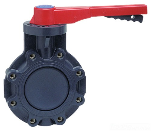 "722311-030 3"" PVC SPEARS LUG WAFER BUTTERFLY VALVE WITH EPDM BOOT AND HANDLE"