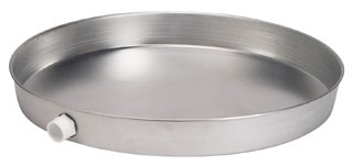 "34152 OATEY 22"" ALUMINUM WATER HEATER PAN W/ 1"" FITTING"
