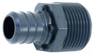 Watts 3/4x3/4 MPT MALE ADAPTER POLY PEX CrimpRing 0650675 WP12P-12PB