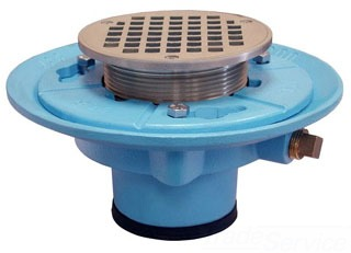 "D66-737 4NL 4"" JONES STEPHENS FLOOR DRAIN WITH 6B TOP & 1/2"" TRAP PRIMER TAPPING (TAPPING PLUGGED)"