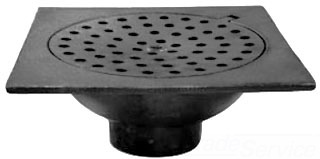"D76-302 6X2"" BELL TRAP FLOOR DRAIN HINGED LID"