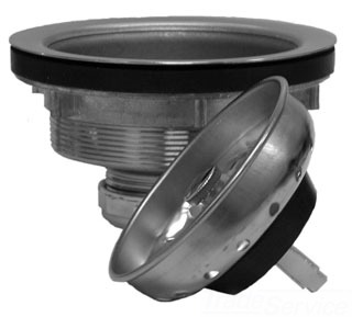 S14251 SCHAUL SS DUO SINK STRAINER, Spring Clip Closure ( 654003 CHAMPION) SC1133