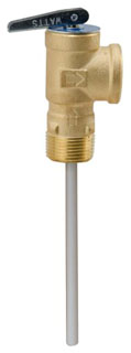 "100XL-8 M7 0066110 WATTS TEMPERATURE & PRESSURE RELIEF VALVE 150 PSI 210 DEGREES WITH 8"" EXT. THERMOSTAT 100,000BTUHR CSA"