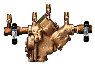"LF909M1-QT 2"" WATTS LEAD FREE RPZ BACKFLOW PREVENTER WITH QUARTER-TURN SHUT-OFF VALVES 0391012"