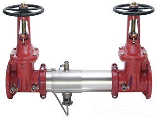 "957NRS-40 WATTS 4"" REDUCED PRESSURE BACKFLOW PREVENTER WITH NRS FLANGED GATE VALVES (0111604) LEAD COMPLIANT"