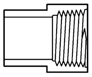 "46032-14 1-1/2"" SCH 40 PVC FE FTG ADAPTER ( 478-015)"