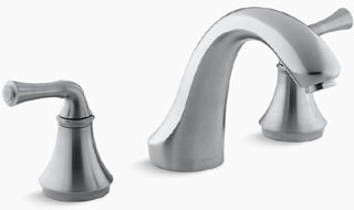 $$$ KT10278-4A-G FORTE DECK BATH FAUCET TRIM/TRADITIONAL LEVER