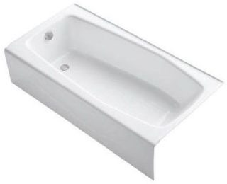 K715-0 KOHLER WHITE VILLAGER 5FT CI BATH TUB OUTLET ON LEFT