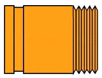 7081F-24 2-1/2X4 PTD GROOVE x MIP GRUVLOK ADAPTER NIPPLE