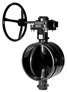 "GN-7722-3 12"" GRUVLOK GROOVED BUTTERFLY VALVE WITH NYLON COATED BODY AND EPDM COATED DISC WITH GEAR OPERATOR"