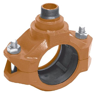 "7042F 4""x3/4"" GRUVLOK FEMALE OUTLET COUPLING W/ ""E"" GASKET"
