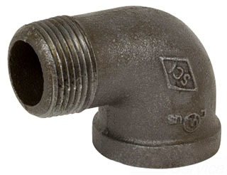 "1/2"" 90 Degree Street Elbow - Black Malleable Iron"