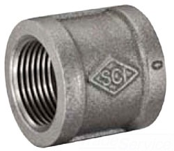"1/2"" Coupling - Black Malleable Iron"