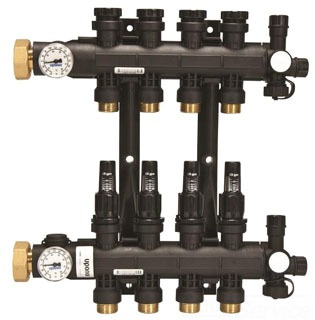 A2670801 HEPEX EP HEATING MANIFOLD WITH FLOW METER 8-LOOP
