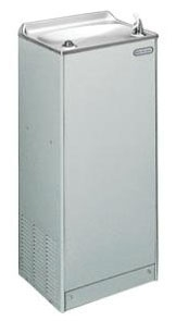EFA8L1Z ELKAY FLOOR MODEL WATER COOLER WITH PUSH BUTTON OPERATION AND STD GRAY BEIGE VINYL CABINET