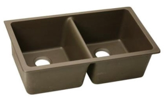 "$$$ElongatedU3322MC ELKAY MOCHA ""E-GRANITE"" 33"" X 18-1/2"" UNDERMOUNT SINK"