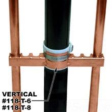 "118-T6 HOLD-RITE COPPER BONDED BRACKET FOR 1/2 & 3/4"" TUBING (50 PER BOX)"
