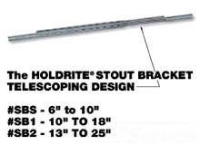 """SB2 GALVANIZED TELESCOPIC STOUT BRACKET 13""""-25"""" SPAN - NO SCREWS"""