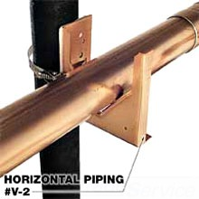"""V-2 1/2""""-3"""" VENT PIPE SUPPORT (250# CAPACITY)"""