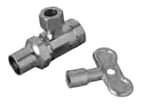 SR17X-C 1/2 FIP X3/8 COMP ANGLE VALVE LOOSE KEY STOP BRASSCRAFT