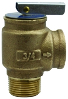 1040705 CONBRACO BRONZE RELIEF VALVE SET@ 30 PSI FOR HOT WATER BOILERS