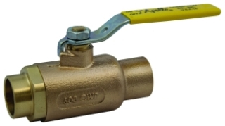 70-203-01 1/2 APOLLO 2PC BRONZE COPPER SWEAT BALL VALVE 600 WOG STD PORT Not approved for Potable Water 2014 MODEL #: 7020301