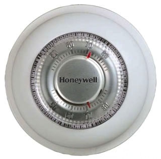 T87K1007 HONEYWELL MERCURY FREE ROUND HEAT ONLY THERMOSTAT