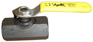 "93-103-01 1/2"" APOLLO CARBON STEEL ONE PIECE BALL VALVE 2000# W.O.G. MODEL #: 9310301"