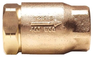 "61-107-01 1-1/2"" CONBRACO BRONZE BALL CONE IP CHECK VALVE 400# W.O.G. Not approved for Potable Water 2014 MODEL #: CVB112"