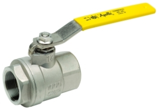 "76F-102-27 3/8"" APOLLO 316 STAINLESS STEEL IP BALL VALVE FULL PORT W/ LATCH LOCK HANDLE MODEL #: 76F10227"